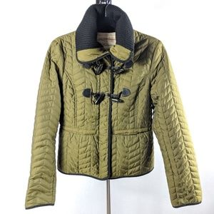 CARTONNIER Olive Green Quilted Equestrian Jacket